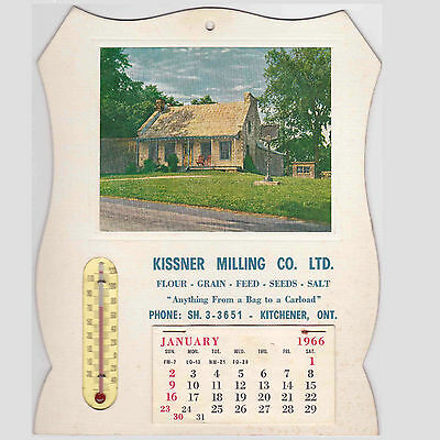 Vintage 1966 Advertising Calendar with Thermometer Kitchener ON