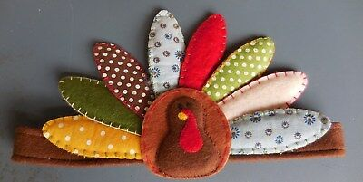 Pottery Barn Kids Thanksgiving Turkey Head Band Headband Hat