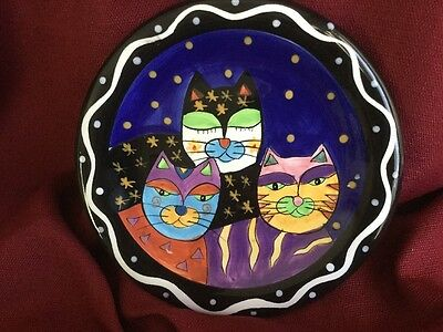 Milson & Louis Hand Painted Plate Cats Halloween
