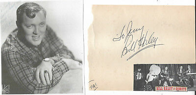 Bill Haley Vintage In Person Genuine Hand Signed Album Page With Picture...