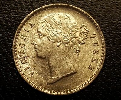 1841 East India Company..Two Annas..Choice UNC..Multiple Die Breaks Obverse!!