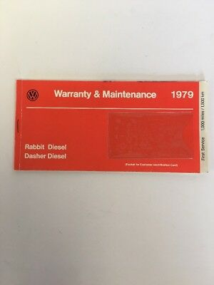 1979 Volkswagen Rabbit Diesel Dasher Warranty And Maintenance Book