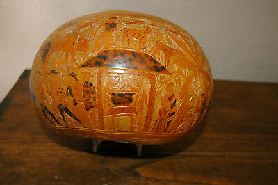 Antique Mexican Folkart Carved And Painted