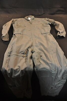 Coveralls Flyer's Summer Fire Resistant 42R Flight Suit CWU-27/P Sage Green A77