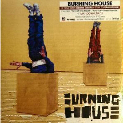BURNING HOUSE Walking In To A... DOUBLE LP VINYL French Naive 14 Track Double