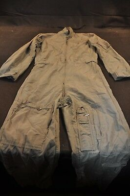 Coveralls Flyer's Summer Fire Resistant 36R Flight Suit CWU-27/P Sage Green A88