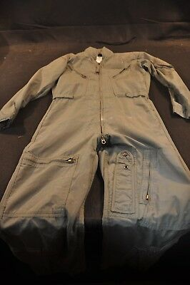 Coveralls Flyer's Summer Fire Resistant 38R Flight Suit CWU-27/P Sage Green A93