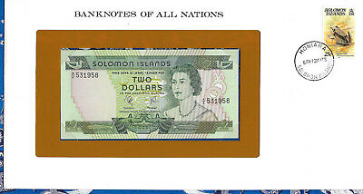 Banknotes of All Nations Solomon Islands 2 Dollars 1977 P5 UNC Birthday 531958