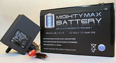 Mighty Max 3 Pack 12V 10AH Bladez eX 350 Scooter Battery