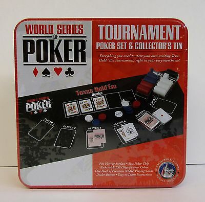 * World Series Poker Set * Texas Hold'Em * Collectors Tin * NOS Factory Sealed *