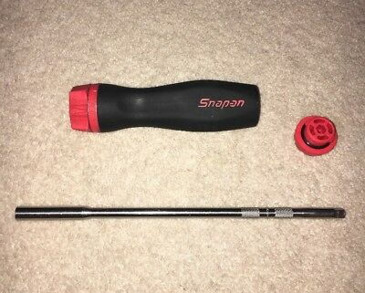 Snap On, Ratchet Screwdriver, Red and black soft grip handle. SGDMRC4A