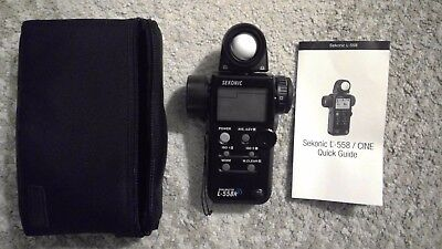 Sekonic Dualmaster L-558R / CINE Light Meter Used Once,includes case, manual,etc