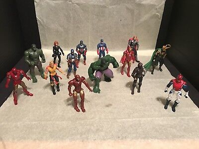 Marvel Avengers Lot Of 14 Figures 3.75 In Size Nice Figures Most Look Now Wow!
