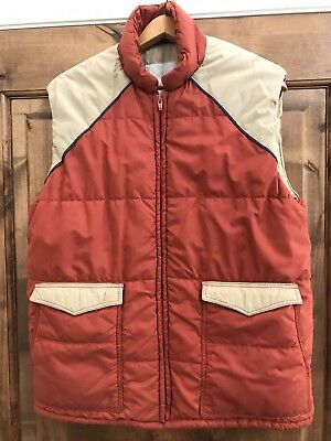 70s 80s Puffy Vest Puffer Mens