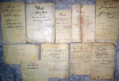 Archive Collection of 10 Historical PA Deeds / Documents (#1) ***************
