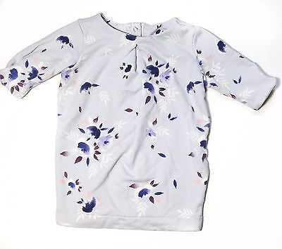 Old Navy Baby Girl 3-6 Months 3/4 Sleeve Floral Print Top Pre Owned