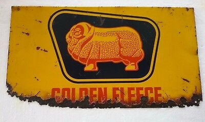 Golden Fleece Oil Bottle Rack Enamel Sign