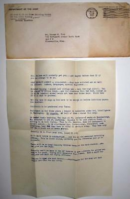 "1953 Army Recruting Letter Using the ""N"" Word ""AF full of them worse than Army"""