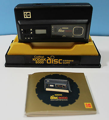 Vintage ~ KODAK 8000 Disc Camera With Case & Manual