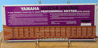 VTG ~ 1971 Yamaha Guitar Course ~ Professional Rhythm Course Card~Factory Sealed
