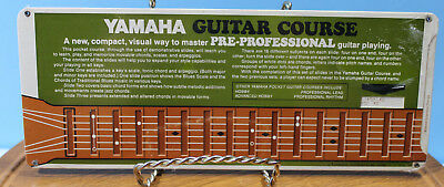 VTG ~ 1971 Yamaha Guitar Course ~ Pre-Professional Course Card ~ Factory Sealed