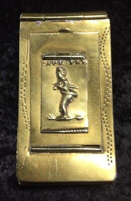 No. 2013095, Antique 19th C. Paul Pry 3 Comparment Brass Snuff Box