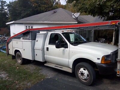 1999 Ford F-550  FORD F550 CAR CARRIER HAULER TRANSPORT UTILITY TRUCK 7.3 DIESEL TOOL SERVICE
