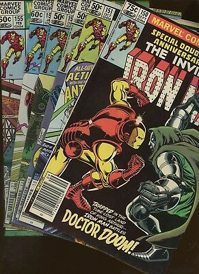 Iron Man 150,151,152,153,154,155 ~ 6 Book Lot * John Romita Jr!!! Bob Layton!!!