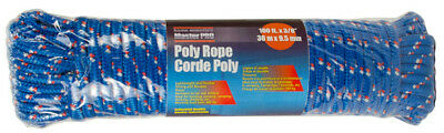 "NEW Home Essentials Master Pro Poly Rope up to 400 lb100ft x 3/8"" Blue"