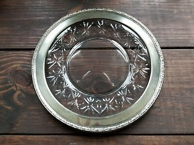 WOW! Beautiful Cut Crystal & Sterling Silver 11 inch Wallace #90 Plate