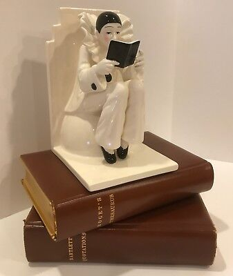 Perfectly Mint Taste Setter Sigma French Harlequin Clown Bookend / No Chips!