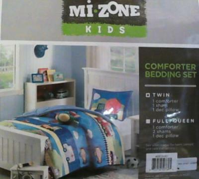 NEW Mizone Kids Totally Transit 3 Piece Comforter Set, Multicolor, Twin $108