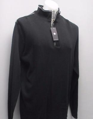New Mens XXL HORST Authentic Mann black zip pullover long sleeve sweater