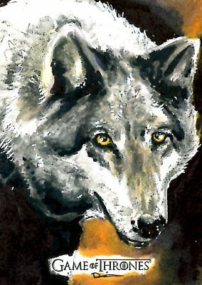 Game Of Thrones Valyrian Steel ARTIST SKETCH card DANNY SILVA - DIRE WOLF