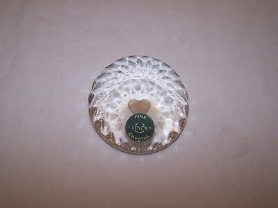 Lenox Fine Crystal Paperweight - Etched Hearts
