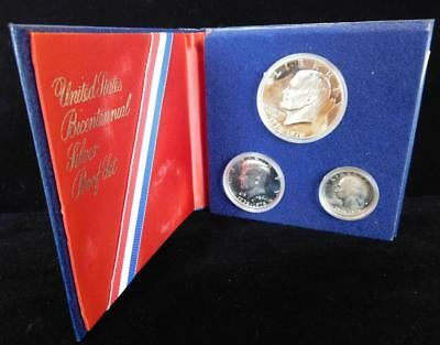 1776-1976-S 3 Piece 40% Silver United States Bicentennial Proof Set (bc8)