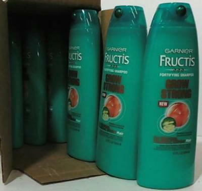NEW CASE of 6 Garnier Fructis Grow Strong Fortifying Shampoo - 13 oz