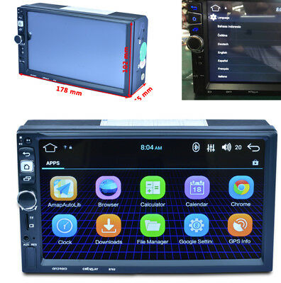 """7"""" Auto Car GPS Navigation Bluetooth Android Built-in WIFI Stereo FM MP5 Player"""
