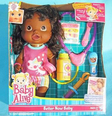 Baby Alive African American Better Now Doll TALKS ENGLISH SPANISH & CHEEKS LIGHT