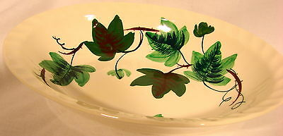 Blue Ridge China Baltic Ivy Oval Serving Bowl Hand Painted