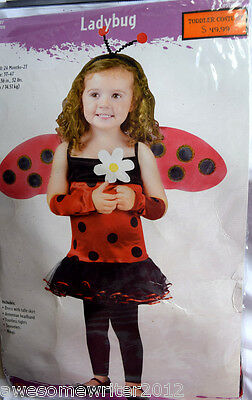 Fun World Little Girl's Size Small 24M-2T Ladybug Halloween Costume, NWT $50