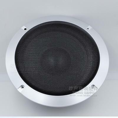 """1pair 8"""" Silver Steel Speaker Subwoofer Sub Waffle Mesh Grill Cover With Screws"""