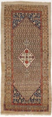"Hand knoted antique Persian Malayer Gallery rug. 5'2""x 11'7"""