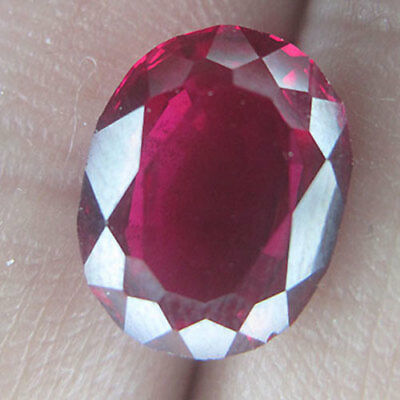 3.80 Cts Loup Clean Ideal Cut Unheat Strong Red Natural Ruby