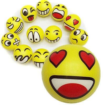 Emoji Smiley Face Anti Stress Reliever Ball ADHD Autism Mood Funny Toy Squeeze