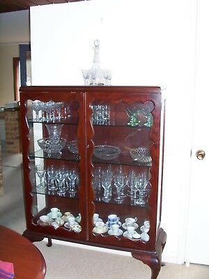 Antique Queen Anne style China/Crystal Display Cabinet.