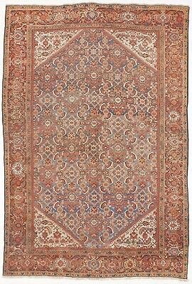 "Hand knotted antique Persian Mahal rug. 8'10""x 13'"