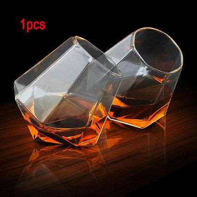 1 Diamond Cut Whisky Glass Spirit Glass Cup Whiskey Tumbler for Liquor Drinking