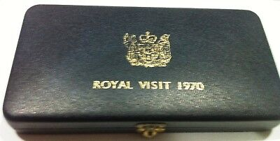 1970 New Zealand Proof Coin Set - Royal Visit