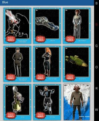 Topps Star Wars Card Trader Blue Star wars Rebels lot of 9